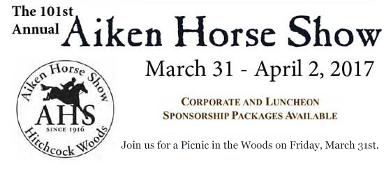 The 101st Annual Aiken Horse Show - March 31st-April 2, 2017